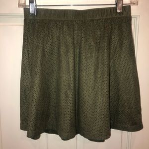 Candie's olive green skirt.